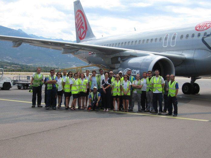 Das Flughafen-Team in Calvi