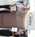 Das Willkommensteam am Flughafen in Calvi: Stefan und Moni