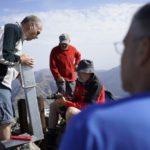 Gipfelkreuz Punta Minuta Aufstellung