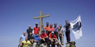 Gipfelkreuz Punta Minuta Gruppenbild
