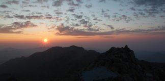 Sonnenaufgang auf dem Monte Rotondo